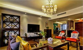 典雅中式风格客厅电视背景墙装饰