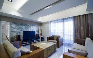 现代简约装修设计客厅效果图
