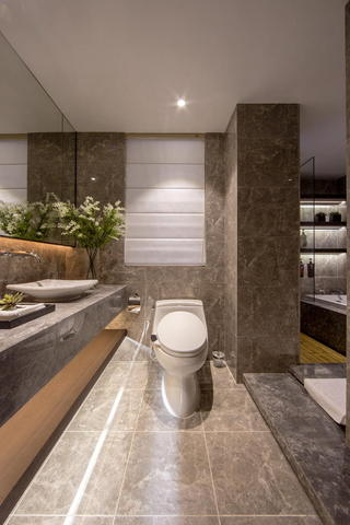 高端现代大理石洗手间干区设计大全