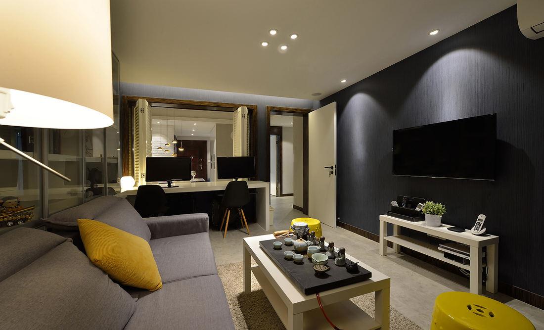 时尚摩登现代装修 客厅电视背景墙设计