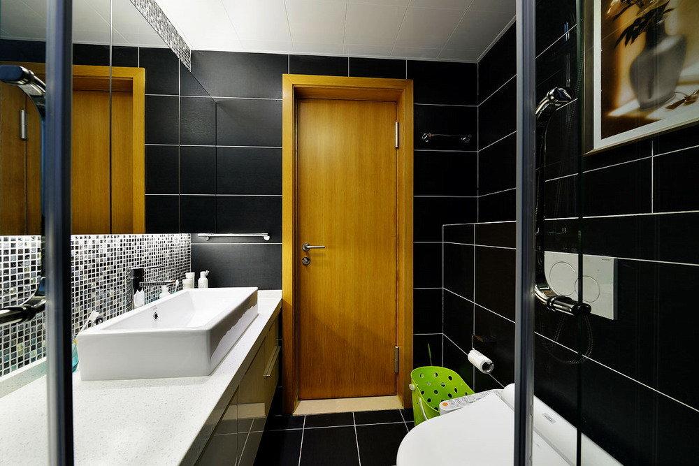 摩登黑色现代风小户型卫生间设计
