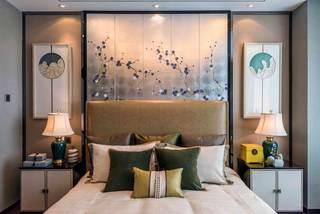 浪漫典雅新中式卧室背景墙装修设计