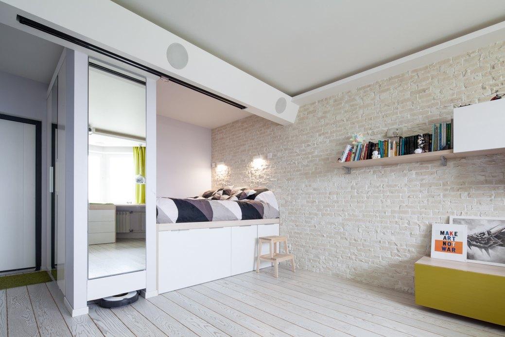 个性文艺北欧风情卧室多功能床设计
