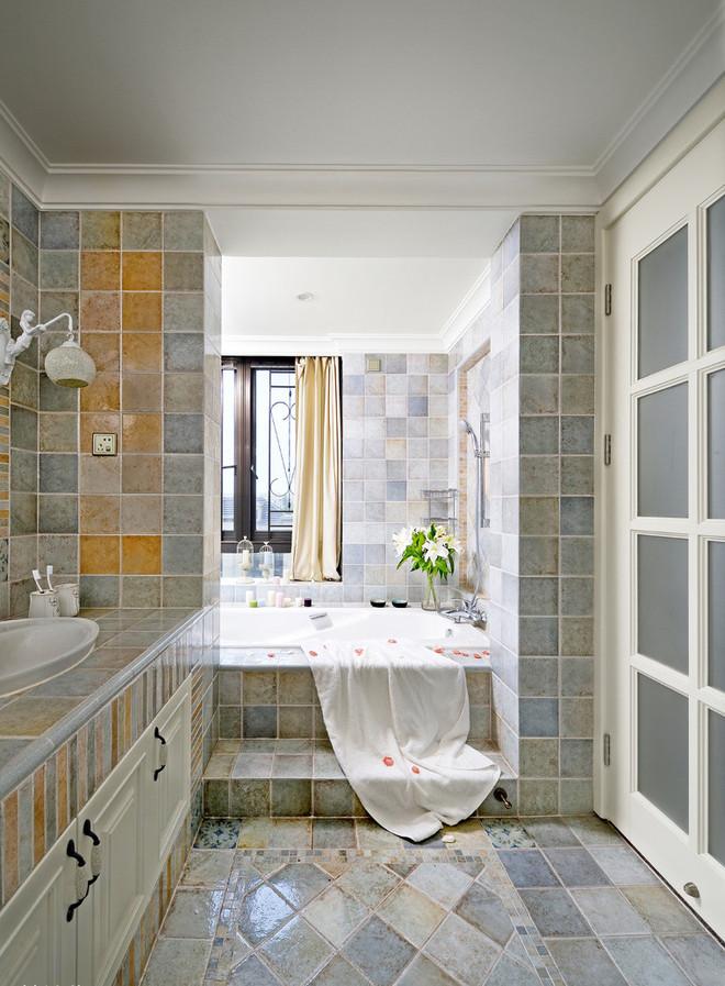 清新浪漫法式卫生间浴室效果图