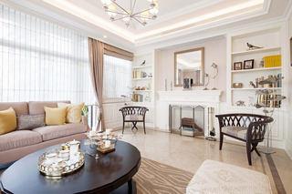 优雅北欧设计客厅壁炉背景墙装饰