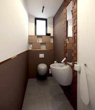 时尚创意现代卫生间设计装修图
