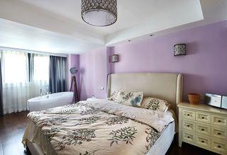 时尚香芋紫简约美式卧室装潢设计