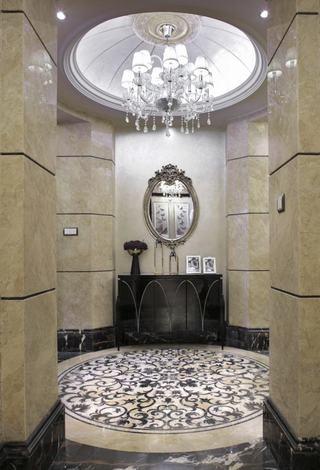 奢华精美欧式新古典 玄关圆形吊顶设计