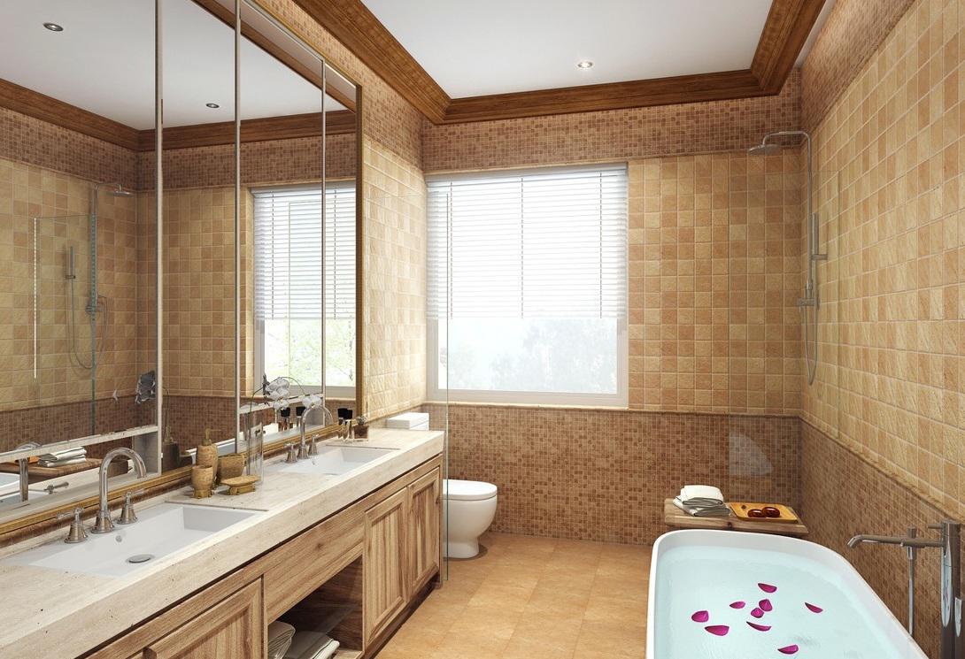 浪漫温馨简约欧式浴室装修设计图