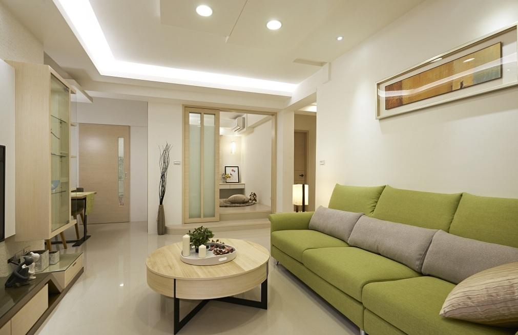 清新简约客厅沙发装饰效果图
