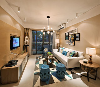 时尚精致美式后现代客厅设计大全