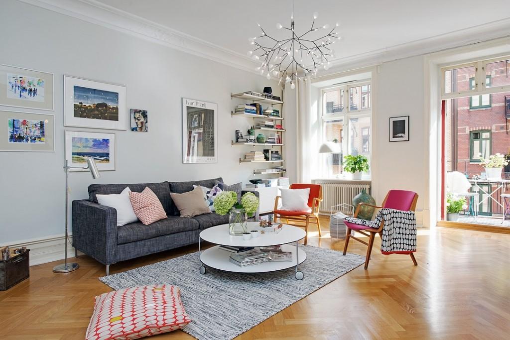 精致北欧公寓客厅装饰效果图