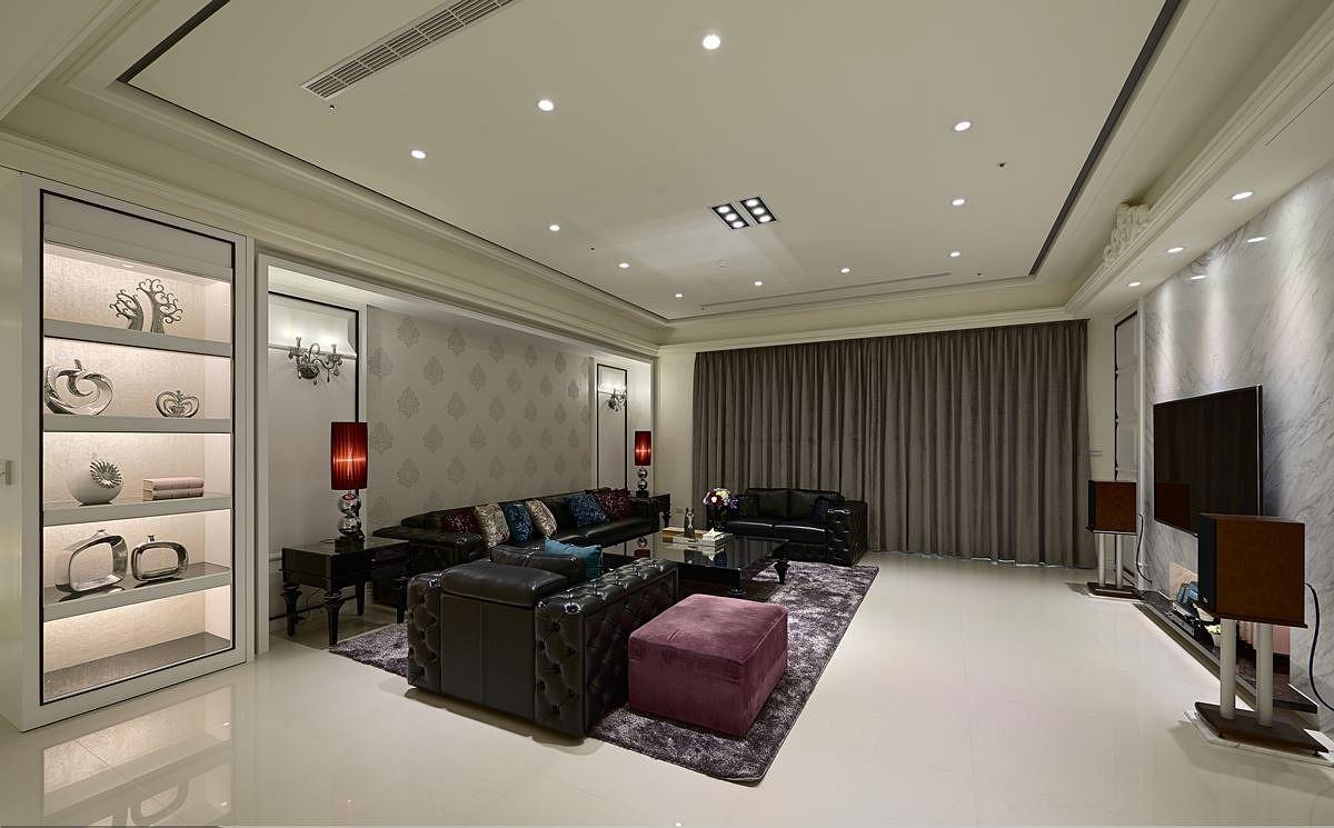 新古典风格客厅整体效果图