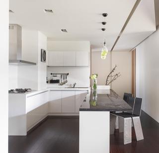 时尚现代风 大理石厨房吧台设计
