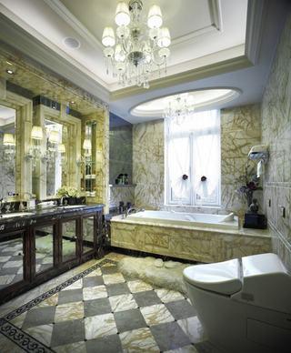 奢华古典欧式大理石卫生间大全欣赏