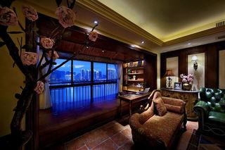 浪漫东南亚风情混搭封闭式休闲阳台设计