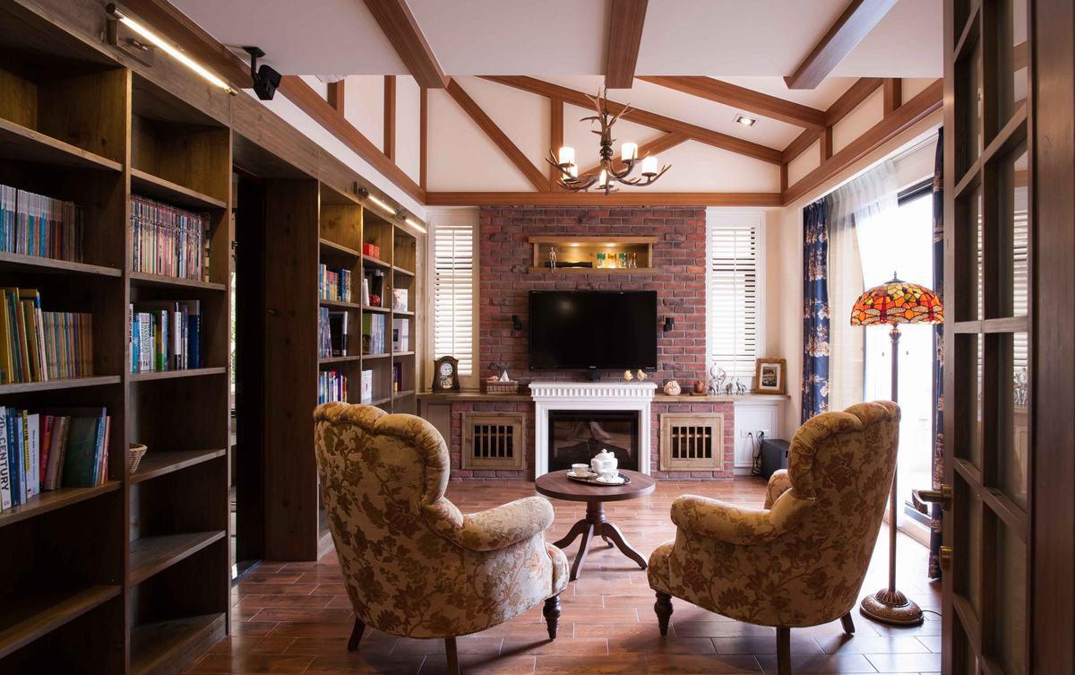 休闲复古美式家居设计效果图