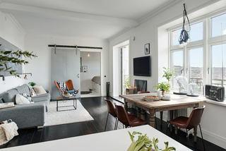 5萬打造時尚清新灰系北歐風公寓設計