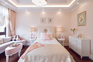 时尚甜美粉色系北欧风情卧室背景墙设计