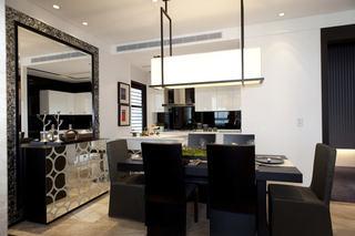 时尚现代摩登半开放厨房餐厅设计