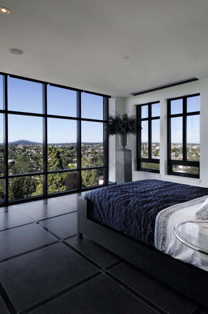 通透现代设计卧室多窗户效果图