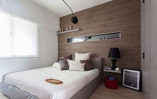 个性咖色现代公寓卧室背景墙装饰