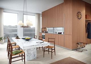 简约北欧宜家风开放式厨房餐厅整体橱柜设计