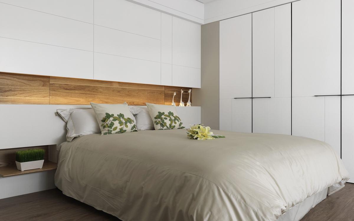 简约现代卧室床头装修设计