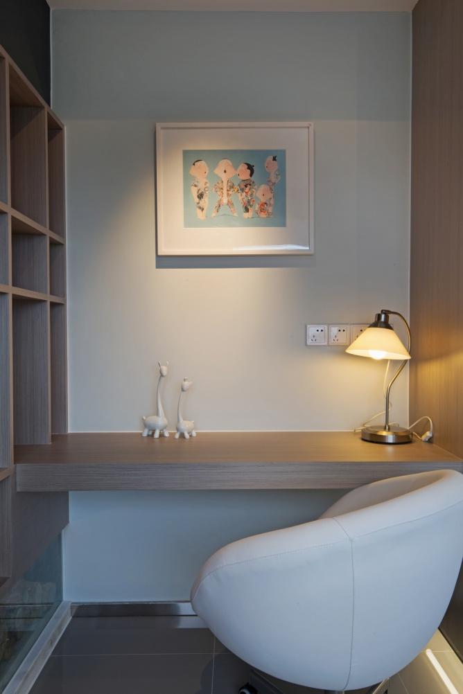 宜家风格家居整体书桌柜设计
