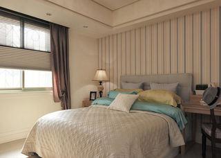 新古典卧室竖条纹墙纸装饰