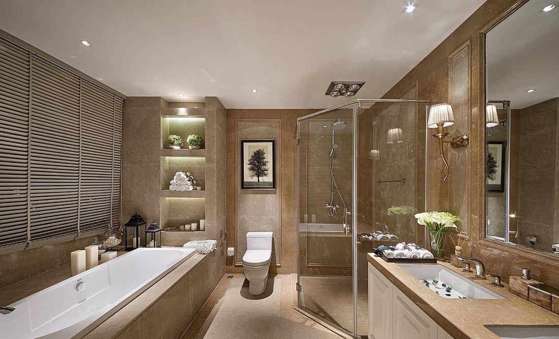 时尚高端现代美式卫生间装饰效果图大全