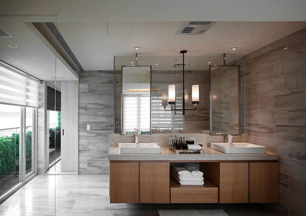 时尚现代卫生间浴室柜设计