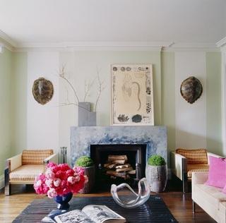 摩登复古北欧田园风客厅壁炉装饰