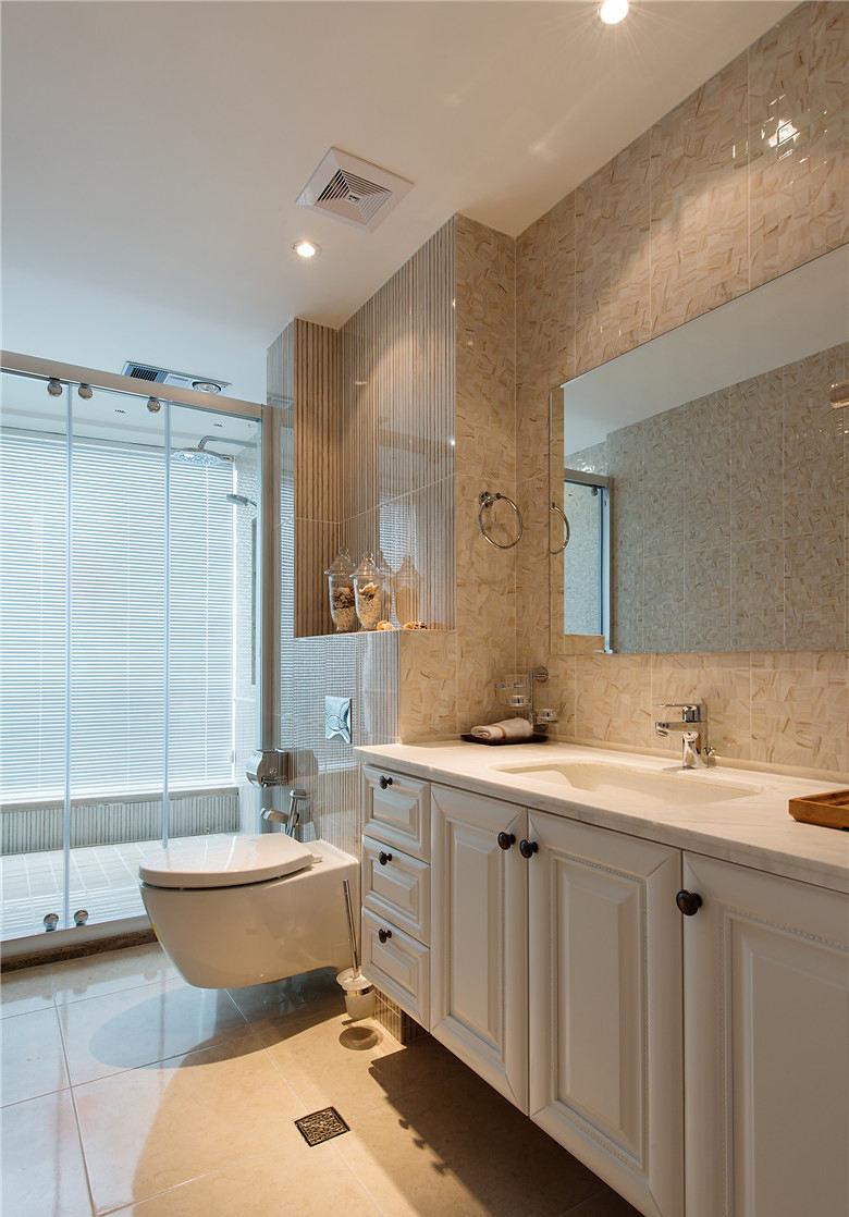 优雅美式卫生间大理石洗手台设计