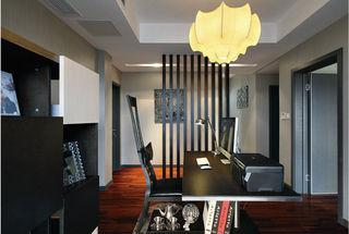 时尚黑色系现代书房效果图