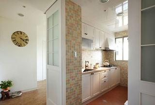 北欧田园风厨房马赛克隔断墙设计