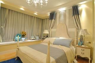 浪漫优雅地中海风情卧室带飘窗装饰大全