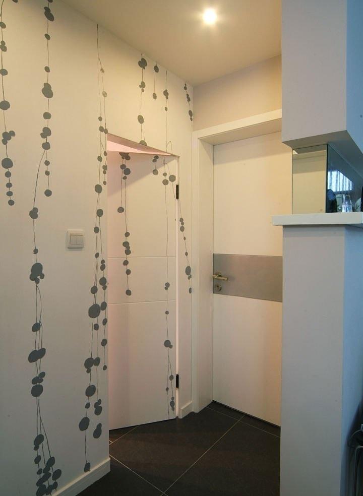 清新自然简约风隐形门背景墙装潢设计
