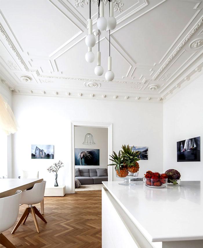 简约维也纳风格家居艺术石膏吊顶设计