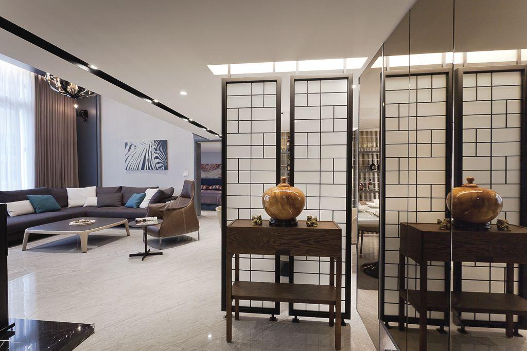 优雅日式禅意复式楼屏风隔断设计