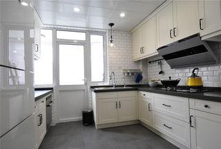 黑白简约色调美式厨房装饰效果图