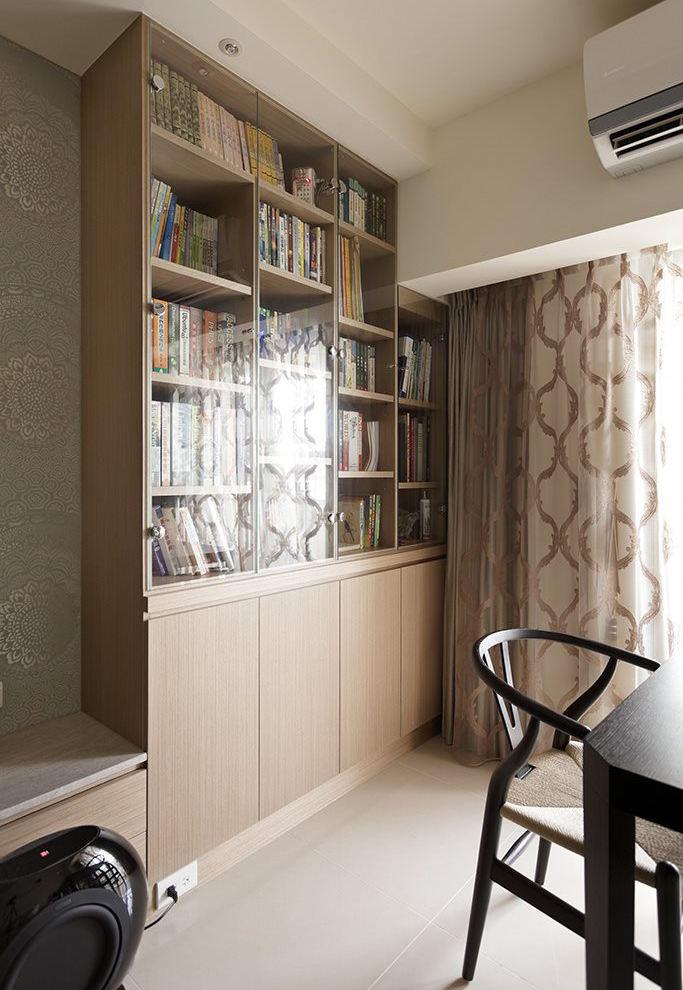 家装小户型书房宜家书柜装饰效果图