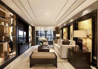 精美奢华中式新古典混搭客厅装饰大全