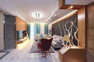 时尚奢华美式装修三室两厅装潢设计