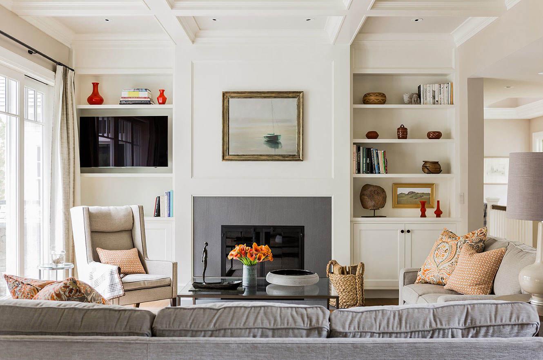 清新素雅北欧风格客厅背景墙装饰