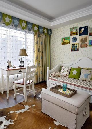 活泼可爱美式混搭儿童房设计效果图