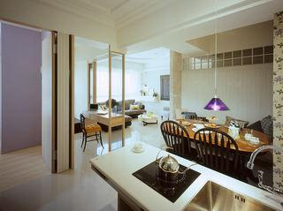 美式风格三室一厅餐厅设计效果图