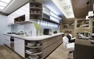 时尚现代厨房设计装修图