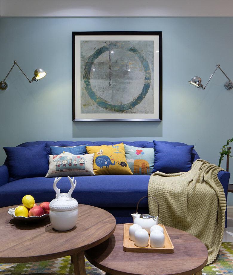 简约现代小户型室内设计 沙发背景墙效果图