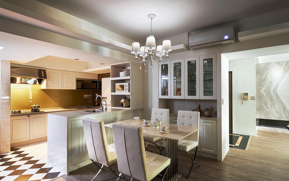 现代风格开放式厨房餐厅效果图